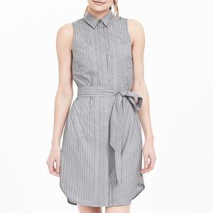 Banana Republic sleeveless Oxford shirt dress